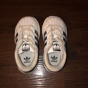 Adidas Metallic Superstars (size 6)